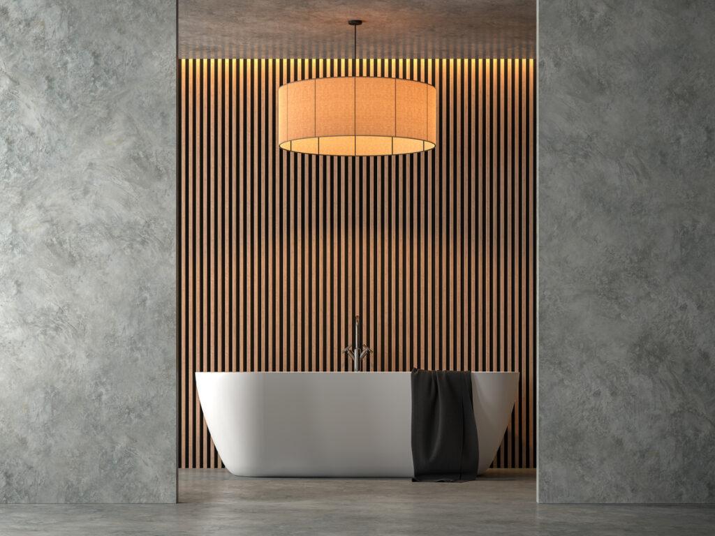 Mortex in een badkamer gebruiken